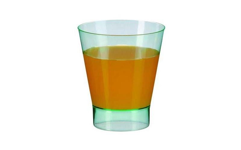 verre plastique et verrine ronde 200 ml en plastique vert transparent vaisselle jetable de luxe. Black Bedroom Furniture Sets. Home Design Ideas