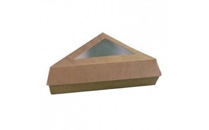 Boite pâtissière triangulaire brune