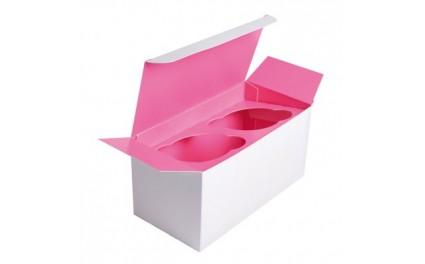 Boîte cupcake insert rose