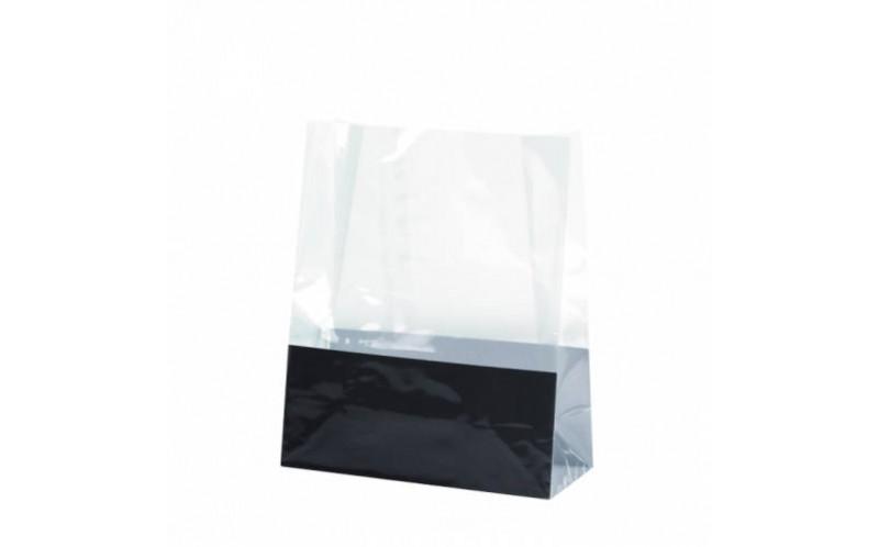 petit sac en plastique pp transparent avec fond cartonn sans poign e emballage alimentaire first. Black Bedroom Furniture Sets. Home Design Ideas