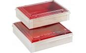 Boîte alimentaire en bois intérieur rouge