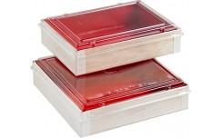 Boîte intérieur rouge 16x16cm