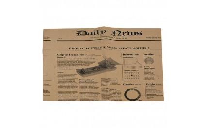 papier alimentaire couleur kraft avec des articles de journaux imprim s pour potatoes et frites. Black Bedroom Furniture Sets. Home Design Ideas
