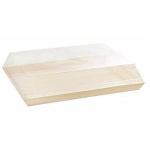 couvercle transparent pour assiette samoura 13 x 13 cm plateau repas en bois. Black Bedroom Furniture Sets. Home Design Ideas