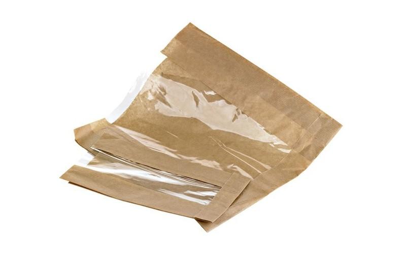 Sac papier kraft avec fen tre transparente pour sandwich for Sac kraft fenetre