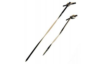 "Pique 10 cm bambou noir torsadé "" TINGI"""