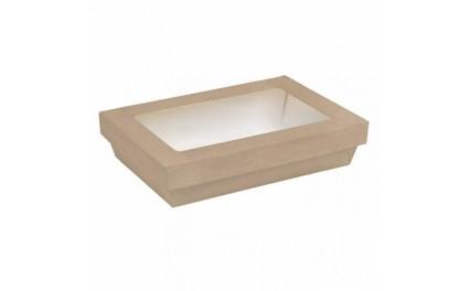 Boite rectangle carton brun avec fenêtre