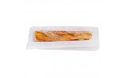 Sac sandwich blanc à fenêtre