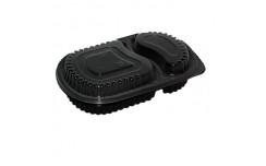 Boîte repas micro-ondable 2 compartiments