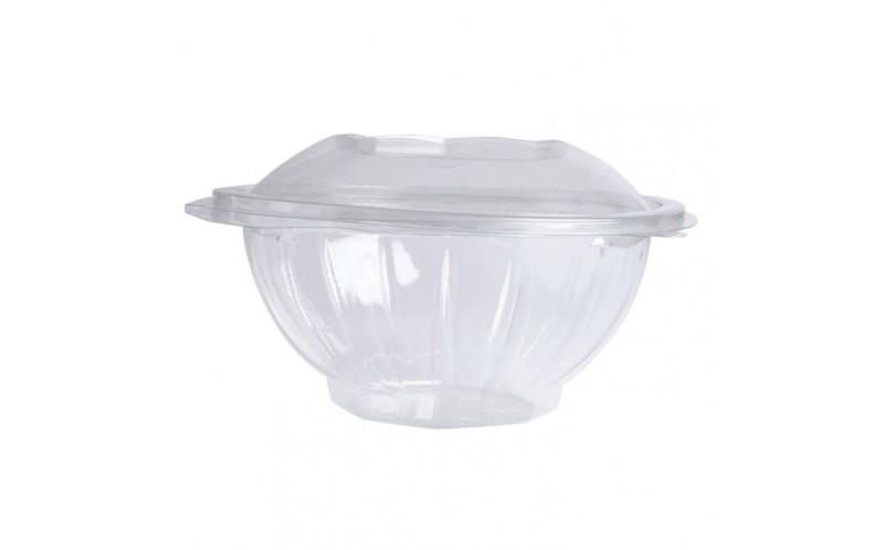 Saladier Plastique Transparent Pour Salade Bar Avec Couvercle 250ml Vaisselle Usage Unique