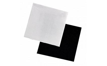 Serviette micropoint blanc 25 cm