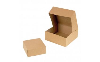 Boite pâtissière en carton brun 18 cm