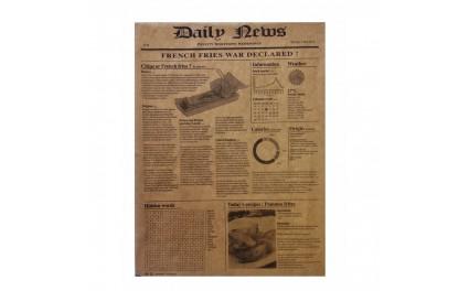 Papier brun imprimé journal 38x40