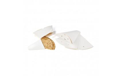 Boîte triangulaire blanche pour crêpe