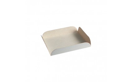 Carré rainé en carton blanc 9 cm