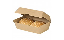 Boîte à burger en kraft 220x125x82 mm