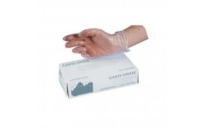 Gant vinyle talqué, taille L