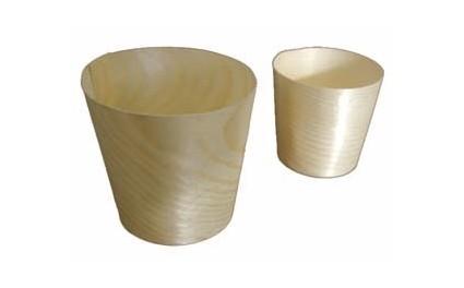 Mini verre bois 4 cm