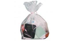 Sac poubelle transparent de contenance 160000 ml x 100 unités