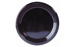 Assiette noire 26 cm