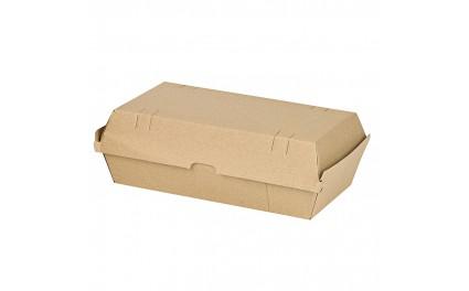 Boîte burger carton kraft brun microcannelé x 25 unités