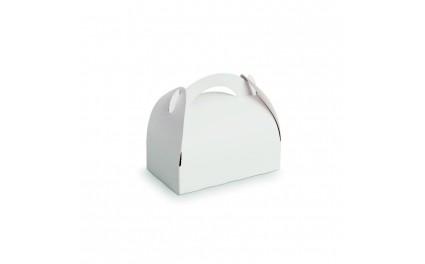 Boîte pâtissière carton blanche avec anse x 50 unités