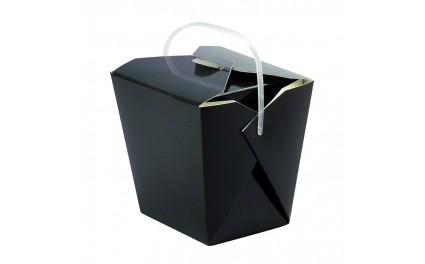 Boîte carrée noire avec anse de contenance 950 ml x 50 unités