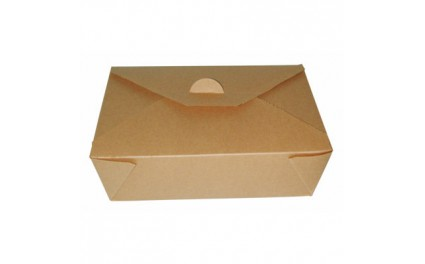 Boîte repas brun 21x16x5 cm