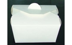 Boîte repas blanc 13x10x6 cm