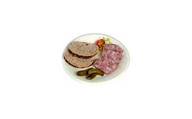 Assiette en bois ronde de 21cm de la gamme First Class, vaisselle jetable de luxe pour traiteur # Assiette En Bois Jetable