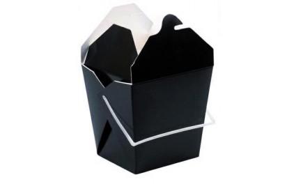 Boîte carrée noire 950 ml