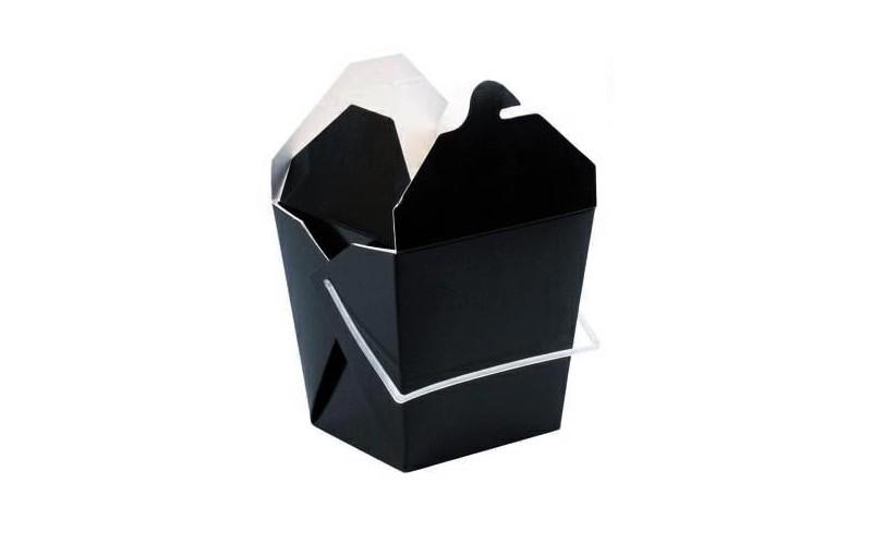 bo te repas carr e en carton avec poign e plastique 950ml de la gamme noire emballage pour. Black Bedroom Furniture Sets. Home Design Ideas