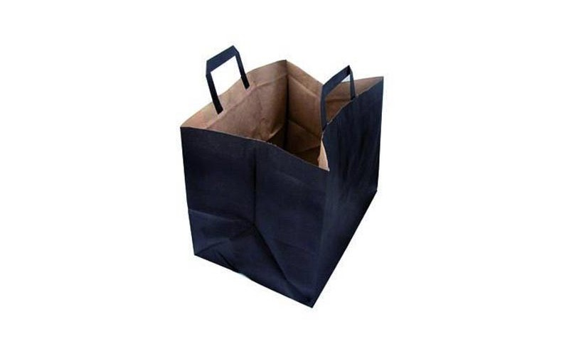 meilleures baskets d6a83 04519 Sac cabas Traiteur noir, en kraft noire, avec poignée, sac ...
