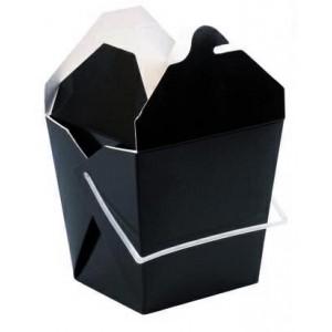 Boîte carrée noire 450 ml