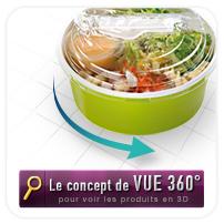 Vue 360° des emballages