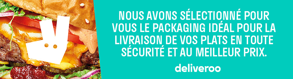 Emballages alimentaires pour Deliveroo